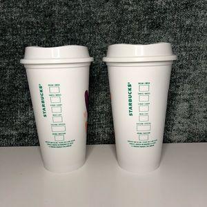 Starbucks Other - Set 2 Starbucks Valentines Reusable Hot Cups